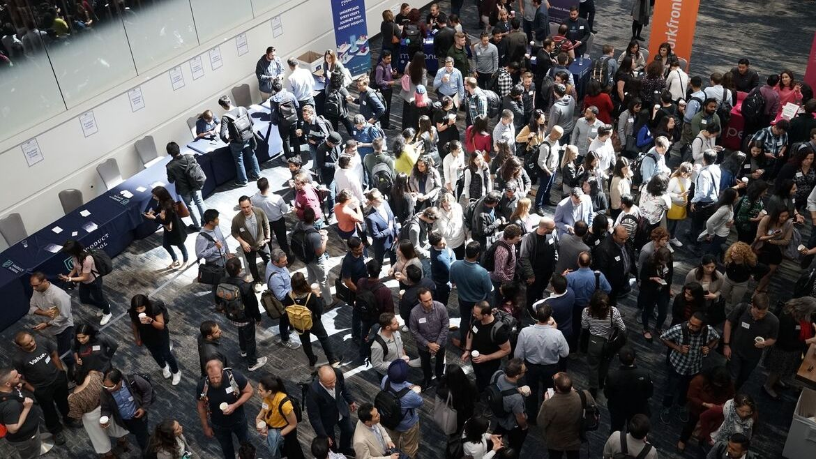 Crowded networking event
