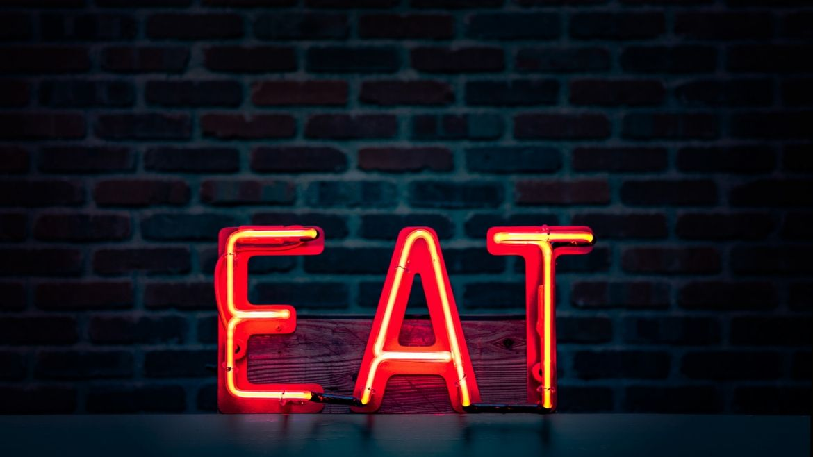 Eat LED sign