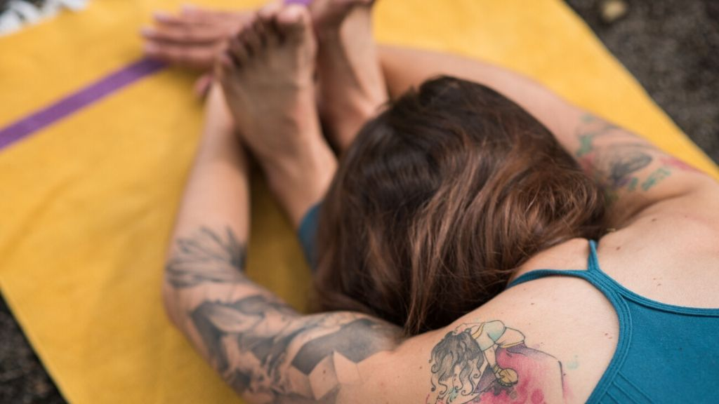 Yellow cotton Mysore yoga mat