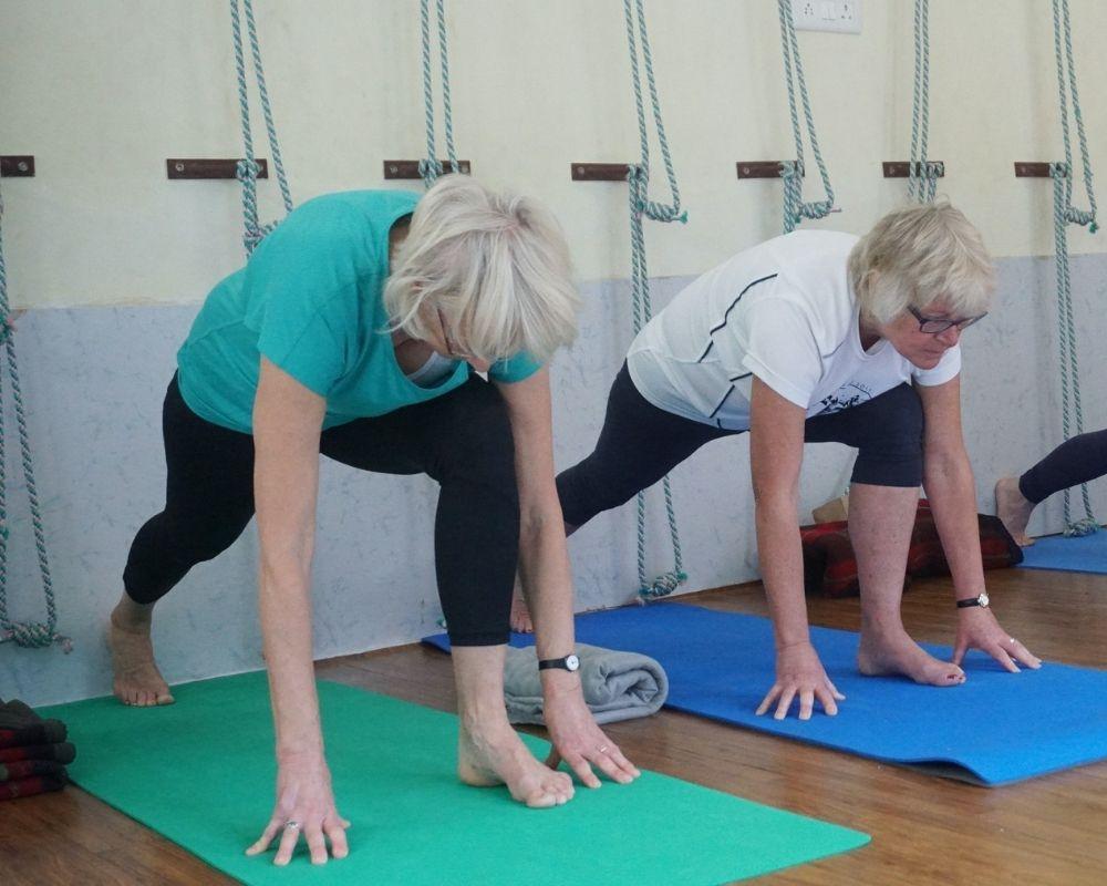 Modified yoga class